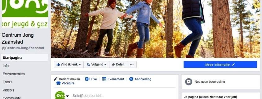 Link naar Centrum Jong Zaanstad heeft nu ook Facebook